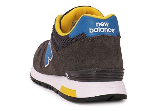 New Balance Herren Nbml565snr Sneaker grau blau gelb (GREY/BLUE)