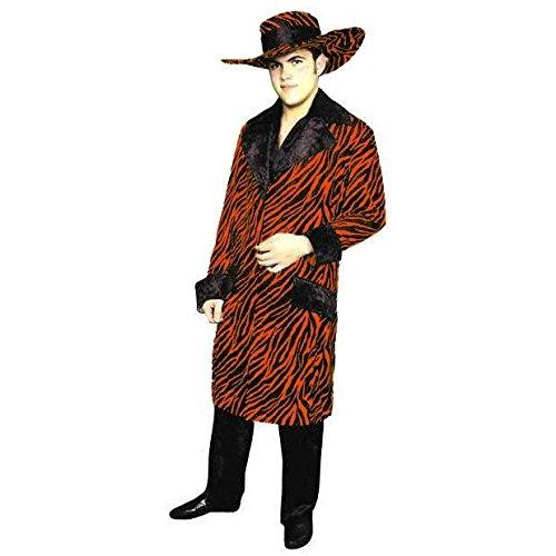 (Mac Daddy Suit - Men's Adult Tiger Print Pimp Costume, Medium)