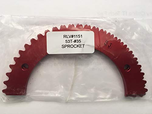 (Go Kart Racing Sprocket - Aluminum 2-piece - For Use with #35 Chain (53, Red))