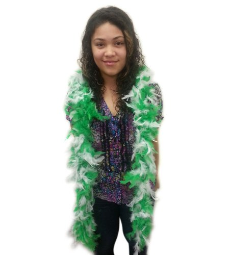[Green And White Feather Boa - Fabulous Diva Boa In Green And White] (S Costume Ideas For Women)