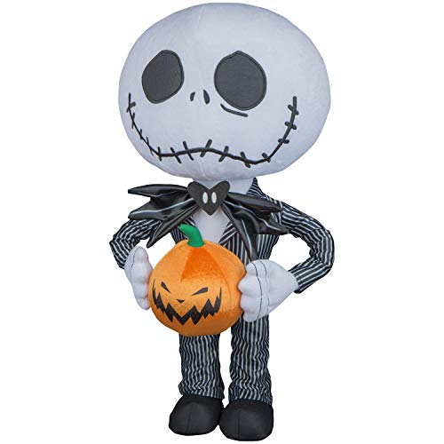 Halloween Greeter Decoration Big Head Jack Skellington Pumpkin Indoor Home ()