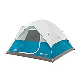 Coleman Longs Peak Fast Pitch Dome Tent 139 6-person dome tent accommodates 2 queen-size airbeds Fast Pitch design sets up 50% faster than conventional setup tents WeatherTec system with patented welded floors and inverted seams to keep you dry