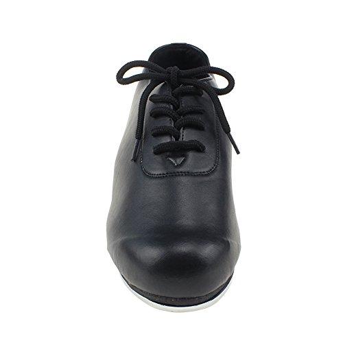 Msmax Zwarte Veterschoenen Met Vetersluiting En Jazzkleurige Sneakers Voor Volwassen 3.5cm Hak Zwart