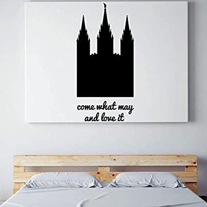 Amazon.com: Enid545Anne LDS Wall Decal - Salt Lake Temple Wall Art ...