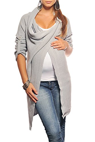 [New Maternity Cardigan Pregnancy Coat Wear 9001 Variety of Colours (One Size (6-12), Light Gray)] (Maternity Sweater Coat)
