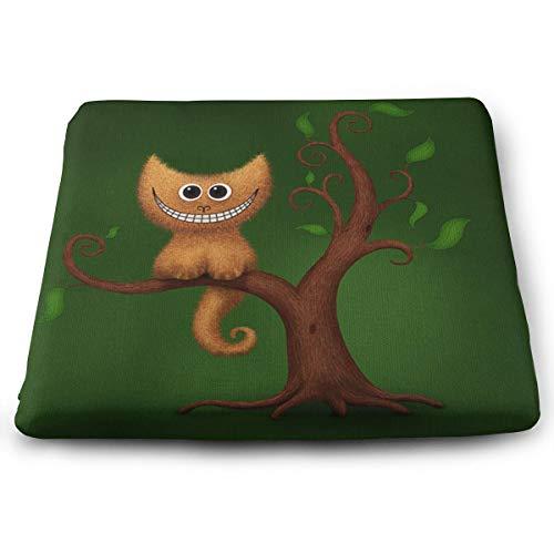 Jhgsjnsf Cheshire Kitten Indoor/Outdoor Memory Foam Seat Cushion,Chair Pad/Seat Cushion