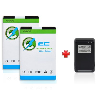 EC-TECHNOLOGY-2-x-1700mAh-Li-ion-Battery-With-Free-1-x-Travel-Charger-For-HTC-EVO-4G-HTC-Touch-Pro2-HTC-Snap-T7373-A9292-HTC-Tilt-2-EVO-Shift-4G-HTC-Dash-3G-HTC-Imagio-XV6975