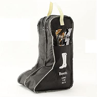 UDTEE 1PCS Durable//Practical Large Non-Woven Fabric Boots Storage/Protector/Bag with Double Compartment,Black