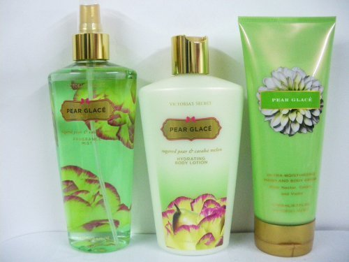 Victoria'S Secret Garden Collection Pear Glace Body Mist, Body Lotion, Hand And Body Cream (New Look)