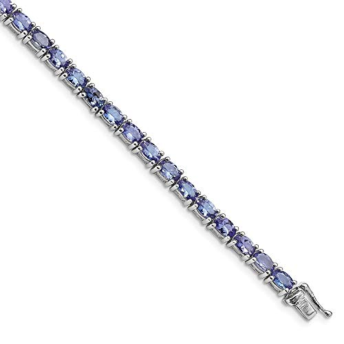 (925 Sterling Silver Blue Tanzanite Bracelet 7 Inch Gemstone Fine Jewelry Gifts For Women For Her)