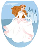Toilet Tattoos TT-1109-O Fairy Princess Decorative Applique for Toilet Lid, Elongated