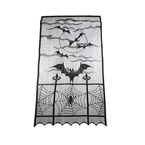 TiooDre 101x213cm Bat Tende Decorazione murale Camino Mantle Coprispalle Tende Tende per Halloween