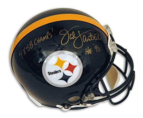 (Jack Lambert Pittsbugh Steelers Autographed Riddell Proline Helmet Inscribed 4X SB Champs & HOF 90 - Certified Authentic Signature)