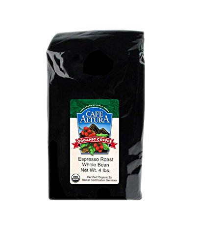 Cafe Altura Whole Bean Organic Coffee, Espresso Roast, 4 ...