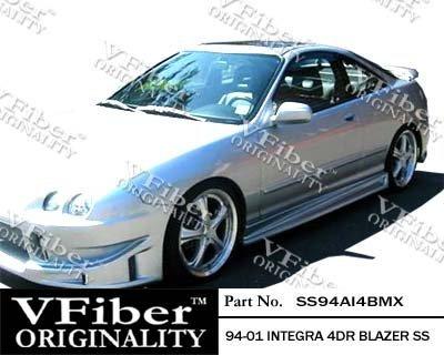 Acura Integra 4dr Side Skirts - 1994-2001 Acura Integra 4dr Body Kit Blazer Side Skirt