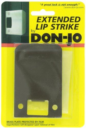 Don-Jo EL 103 18 Gauge Extended Lip Strike, Dura Coated, 3'' Width x 2-1/4'' Height (Pack of 10) by Don-Jo