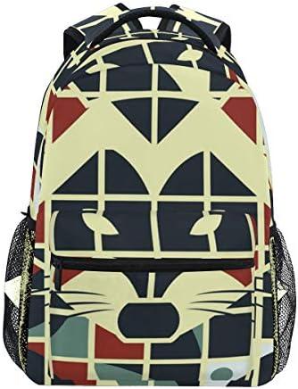 抽象犬フォックスカジュアルバッグ リュック リュック ショルダーバッグ 流行 おしゃれ 人気 ラップトップバッグ こども 通勤 通学