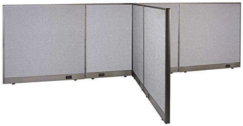 GOF T-Shaped Freestanding Partition 66d x 156w x 48h / Office, Room Divider by GOF