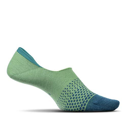 - Feetures - Women's Hidden Socks - Ombre - for Everyday Wear - Lime - Size Medium