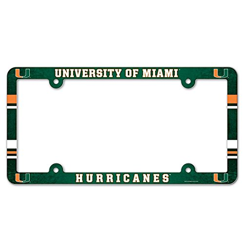 - NCAA License Plate with Full Color Frame, University of Miami (Florida)