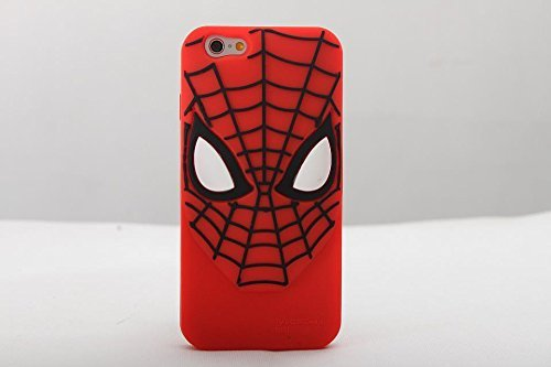 iPhone 6 Case, Maxbomi - 3D Cute Cartoon Protective Skin Marvel Ultimate Amazing Spiderman Saga Super Hero Mask Silicone Rubber Protection Cover Soft Cases for iPhone 6 (4.7 inch)