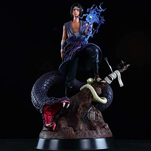 Naruto GK, Burning Wind Sasuke, Double Headed Sculpture met vervangbare kop, Psychic Snake Sasuke Statue, Figure
