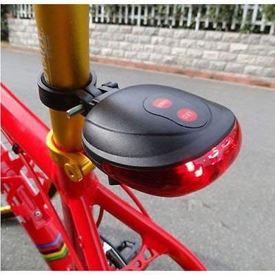 Bicycle 5 LED Laser Light with 2 Lights  Red