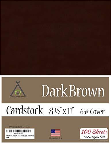 Dark Brown Cardstock - 8.5 x 11 inch - 65Lb Cover - 100 Sheets ()