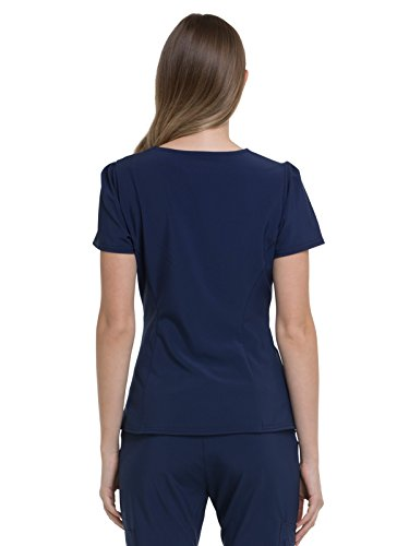 HeartSoul Love Always by Women's V-Neck Solid Scrub Top Small Navy by HeartSoul (Image #2)'