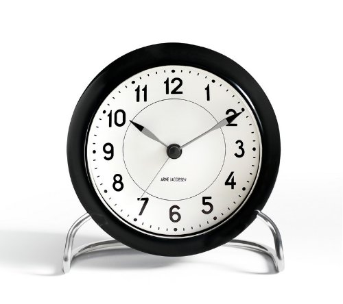 Arne Jacobsen Table Clock Station with Alarm by Arne Jacobsen