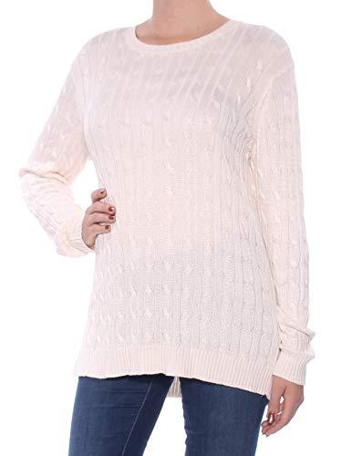 Lauren Ralph Lauren Women's Cable-Knit Sweate Medium Cream
