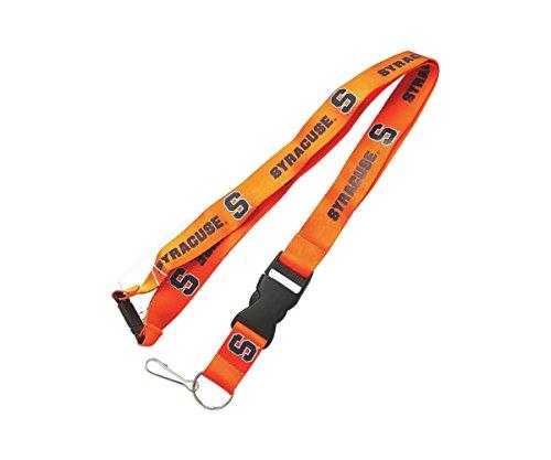 NCAA Syracuse Orangemen Team Logo Clip Lanyard Keychain Id Ticket Holder Orange (Syracuse Orange Keychain)