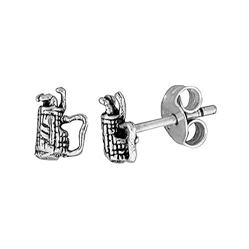 Tiny Sterling Silver Golf Earrings