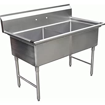 Allstrong 2 Compartment Stainless Steel Sink 15u0026quot; ...