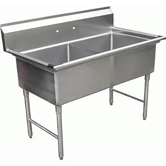 Amazon.com: Allstrong 2 compartimentos de acero inoxidable ...