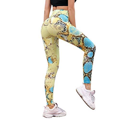Yoga Pants Workout Leggings for Women,Women 4 Way Stretch Yoga Leggings for Fitness, Yoga, Jogging and Golf Pants Yellow