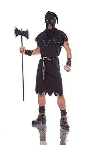Costume Culture Men's Executioner Costume, Black, Standard -