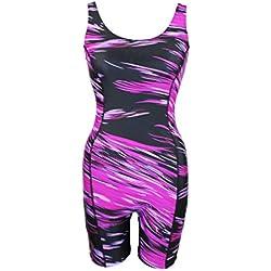 Adoretex Female Sunfire Unitard Swimsuit - Purple / Black - X-Large