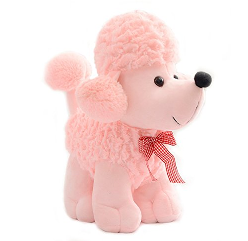 (Smilesky Plush Poodle Puppy Dog Stuffed Animal Toys Kids Gifts Pink 8