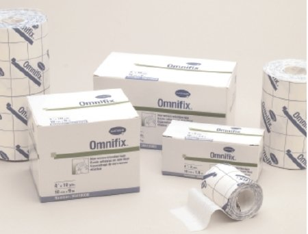 Hartmann 36400000 Omnifix Latex-Free Non-Woven Dressing Retention Tape, Unstretched, 4'' Width, 2 yd. Length