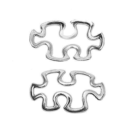 (Monrocco 120pcs Autism Awareness Puzzle Piece Charms Pendant for DIY Jewelry)
