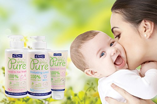 Pure Baby Head-to-toe Wash by Dr. Fischer with 100% Organic Oils & 97% Natural Origin Ingredients for Sensitive Skin Care of Newborns Toddlers and Adults (13.5 Oz) by Dr. Fischer (Image #3)