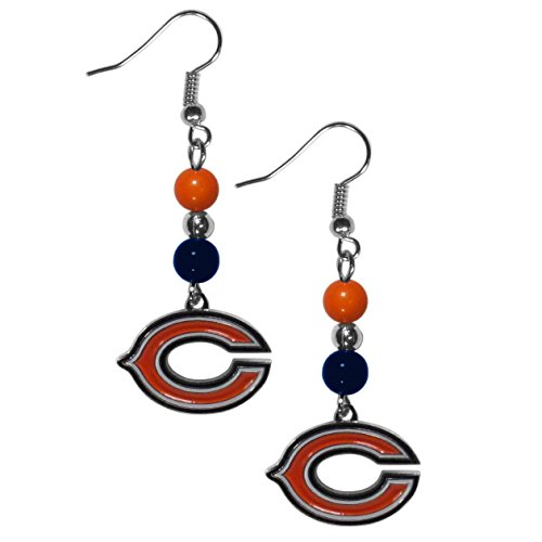 Chicago Bears Jewelry - NFL Chicago Bears Fan Bead Dangle Earrings