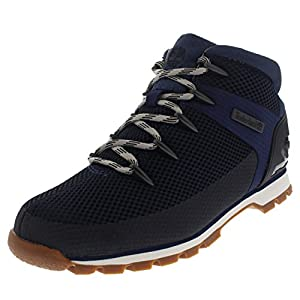 Mens Timberland Euro Sprint Fabric Walking Durable Hiking Ankle Boot - Navy - 9.5