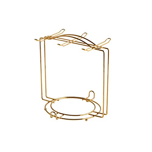 Saucers & Cups Rack Storage Organization - 6 Saucers & 6cups & 6spoons/Espresso Set Rack/Tea Set Display Stand/Cabinet Stacker By BANFANG by BANFANG