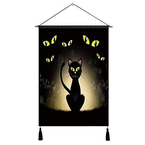 Joykith wall painting Halloween paintings oil painting printed canvas Unframed Halloween Oil Painting Print Picture Home Wall Room Wall Hanging suitable for living room,theme party Tapestry,home decor]()