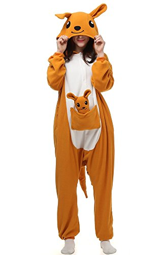 Laidisi Novelty Costumes Pyjamas Unisex Adult One-Pieces Cosplay Jumpsuit Kangaroo M