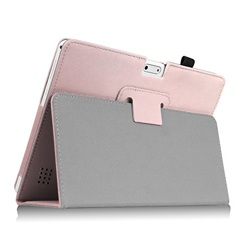 Fintie Case for Yuntab 10.1 (K107/K17), Premium PU Leather Folio Cover with Stylus Holder, Compatible with Wecool 10.1, Tagital 10.1, BEISTA 10.1 (K107/M107), YELLYOUTH 10.1 Inch Tablet, Rose Gold by Fintie (Image #7)