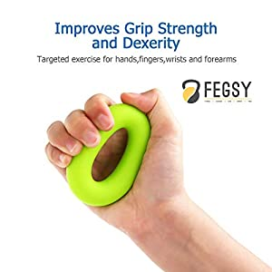 FEGSY-Silicon-Finger-Stretcher-Hand-Grip-Exerciser-Palm-Strengthener-for-Athletes-Musicians-Therapy-and-Stress-Relief-Green-Set-of-2