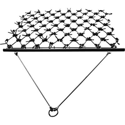 NorTrac Harrow Rake for Cleaning, Leveling Soil and Stimulating Growth - 4ft.W x 7 1/2ft.L by NorTrac